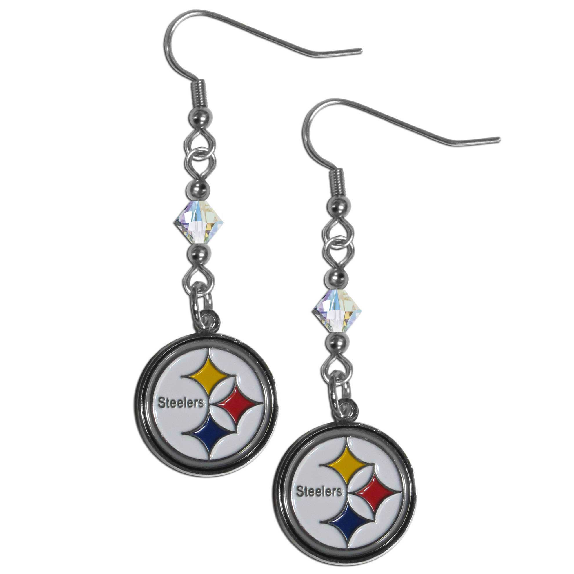 order pittsburgh steelers crystal dangle earrings